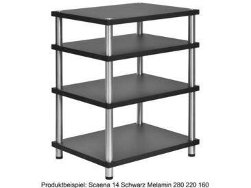 HiFi Rack Scaena 14 Schwarz Melamin 280 220 160