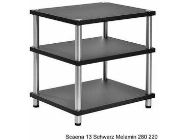 HiFi Rack Scaena 13 Schwarz Melamin 280 220