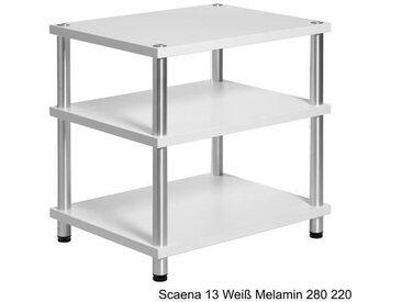 HiFi Rack Scaena 13 Weiß Melamin variabel und erweiterbar