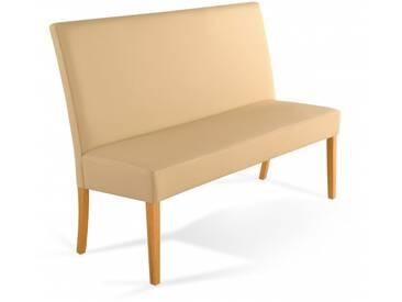 SAM® Sitzbank mit Rückenlehne 200 cm Bank Essbank creme ROMA Auf Lager !