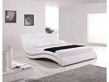SAM® Polsterbett Doppelbett 200 x 200 cm weiß SANREMO  Auf Lager !