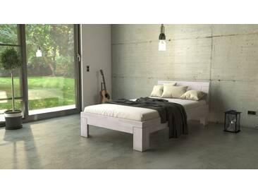 SAM® Massivholzbett Einzelbett Buche weiß lasiert 120 x 200 cm SARA Auf Lager !
