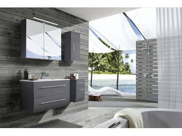 SAM® Badezimmermöbel Zagona 4tlg grau Hochglanz 90 cm Auf Lager !