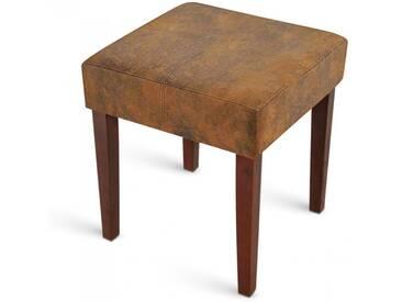 SAM® Hocker Sitzhocker 40 x 40 cm Wildlederoptik kolonial NINA Auf Lager !