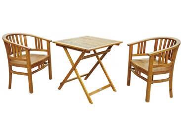 SAM® Balkonmöbel Set Akazie Klapptisch 70 x 70 cm VIBY/KORSOR Auf Lager !