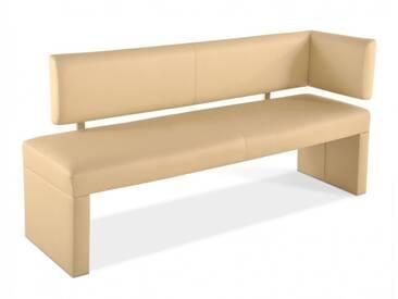 SAM® Sitzbank mit Lehne Ottomane 170 cm creme SANDRA Auf Lager !