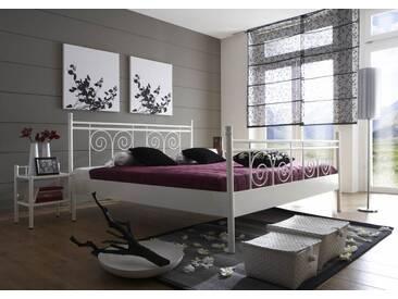 SAM® Metallbett weiß 140 x 200 cm Rhodos Auf Lager !