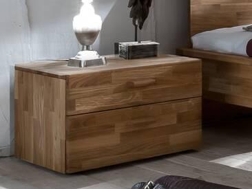 SAM® Nachttisch 54 x 38 cm Massivholz Wildeiche Nachtkonsole CUBI 1 Auf Lager !