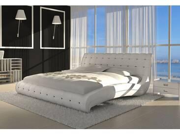 SAM® Polsterbett Doppelbett Bett 140 cm Weiß VEDERI Auf Lager !