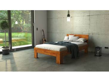 SAM® Massivholzbett Einzelbett in Wildeiche geölt 120 x 200 cm SARA Auf Lager !