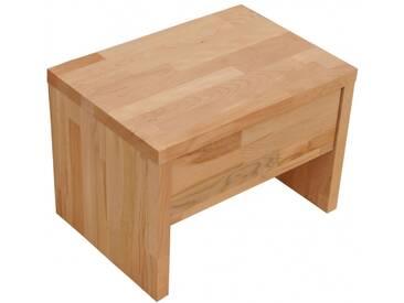 SAM® Nachttisch 50 x 36 cm Massivholz Kernbuche parkett BEN 2 Auf Lager !