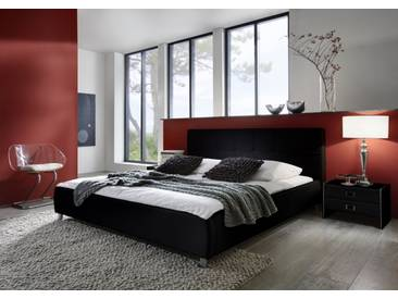 SAM® Polsterbett Doppelbett Bett 140 x 200 cm schwarz ZARAH Auf Lager !