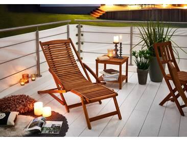 SAM® Sonnenliege Gartenliege aus Akazienholz 150 cm FUKI Auf Lager !
