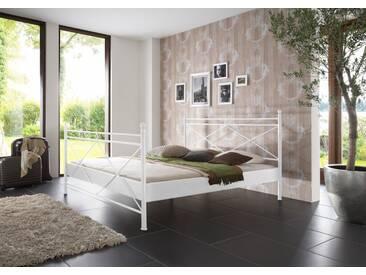 SAM® Metallbett weiß 140 x 200 cm Imola auf Lager !