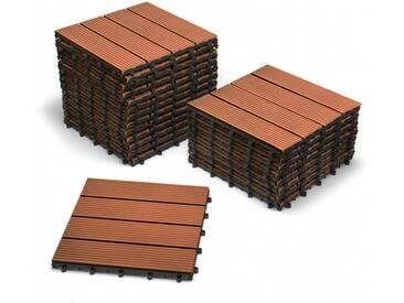 SAM® Terrassenfliesen Balkonfliesen WPC 22 Stück=2 m² teakfarben Auf Lager !