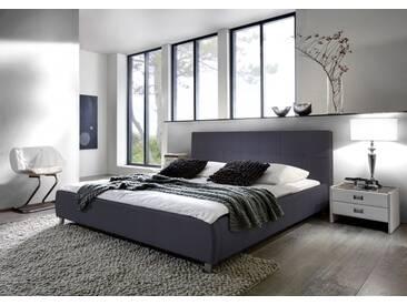 SAM® Polsterbett Doppelbett Bett 180 x 200 cm grau ZARAH Auf Lager !