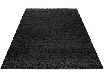 My Home Hochflorteppich »Bodrum«, 240x320 cm, 30 mm Gesamthöhe, schwarz