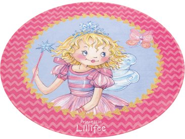 Prinzessin Lillifee Kinderteppich »LI-110«, 9 (Ø 100 cm), 6 mm Gesamthöhe, rosa
