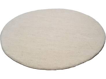 Theko® Wollteppich »Amravati«, 10 (Ø 200 cm), 28 mm Gesamthöhe, beige
