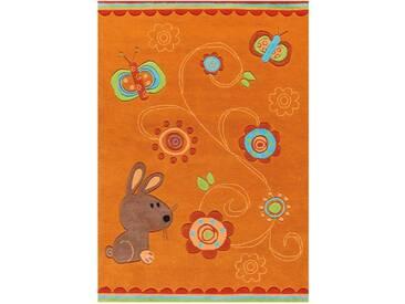Arte Espina Kinderteppich »Sam 4152«, 140x200 cm, 11 mm Gesamthöhe, orange