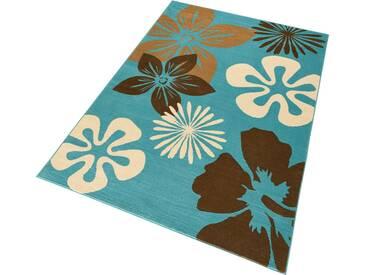 Hanse Home Teppich »Flora«, 200x290 cm, 9 mm Gesamthöhe, blau