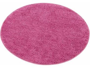 My Home Hochflor-Teppich »Bodrum«, 10 (Ø 190 cm), 30 mm Gesamthöhe, rosa