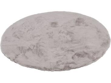 Schöner Wohnen-kollektion Teppich »Tender«, Ø 120 cm, 26 mm Gesamthöhe, silber