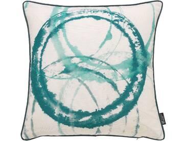 Emotion Textiles Kissenhülle »Aquarellkreise«, grün