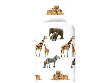 Good Morning Kinderbettwäsche »Young & Wild«, 135x200 cm, weiß, aus 100% Baumwolle