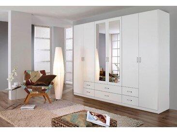 Rauch Kleiderschrank »Gamma«, B/T/H 271/54/210 cm, mit Spiegeltüren, weiß, Breite 271 cm, 6-türig, mit 6 Türen