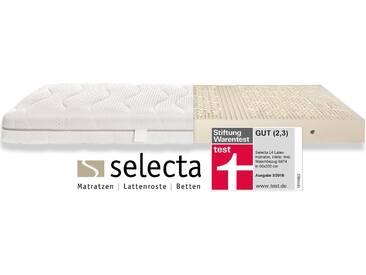 Selecta Latexmatratze »Selecta L4 Latexmatratze - Testsieger Stiftung Warentest GUT (2,3) 03/2018«, 1x 90x210 cm, weiß, 81-100 kg
