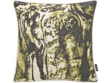 Emotion Textiles Kissenbezug »Holz«, grün