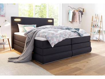 Collection Ab Boxspringbett »Rubona«, Bonnell-Federkernmatratze, grau