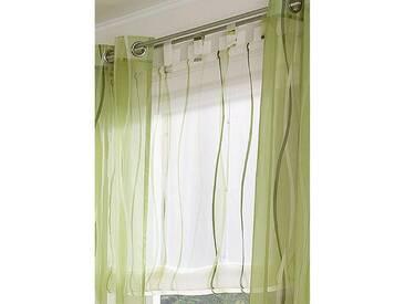 My Home Raffrollo »Dimona«, H/B 140/140 cm, beige, transparenter Stoff