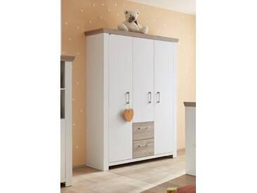 Kleiderschrank »Stralsund«, Schlafwelt, mit 3 Türen und 2 Schubkästen, weiß