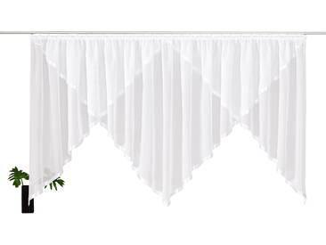 My Home Kuvertstore »Volano«, H/B 120/450 cm, pflegeleicht, weiß, transparenter Stoff