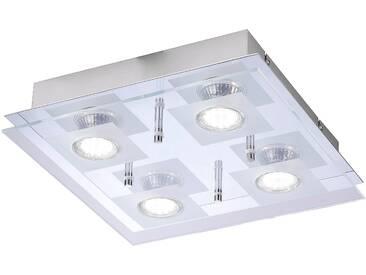 Leuchtendirekt Deckenlampe, silber