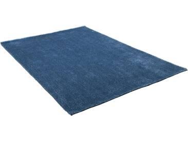 Theko® Hochflor-Teppich »Alessandro«, 65x135 cm, 25 mm Gesamthöhe, blau