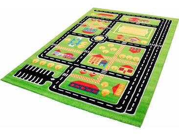 Impression Kinderteppich  »Rhapsody Kids1531«, 80x150 cm, 13 mm Gesamthöhe, grün