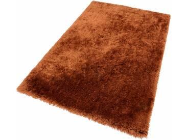 Theko® Hochflor-Teppich »Flokato«, 70x140 cm, fussbodenheizungsgeeignet, 60 mm Gesamthöhe, braun