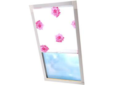 Liedeco Dachfenster-Rollo »Dekor«, H/B 130/60 cm, weiß