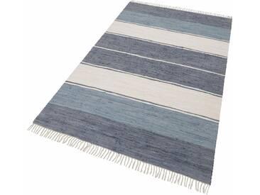 Theko® Teppich »Stripe Cotton«, 160x230 cm, 5 mm Gesamthöhe, grau