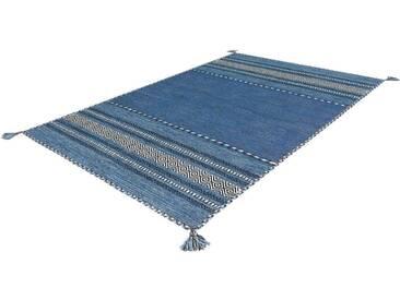 Arte Espina Teppich »Navarro«, 140x200 cm, 8 mm Gesamthöhe, blau