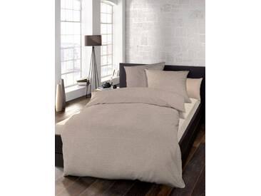 Schlafgut Bettwäsche »Select«, 135x200 cm, waschbar, braun, aus 100% Baumwolle