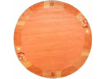 Theko® Teppich »Sierra«, Ø 150 cm, 14 mm Gesamthöhe, braun