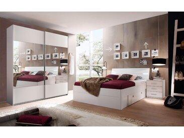 Schlafzimmer-Set, Schlafwelt, weiß