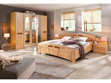 Home Affaire Schlafzimmer-Set »Sarah«, 5-türig, beige, Set aus 1 Bett, 2 Nachttischen, 1 Kleiderschrank