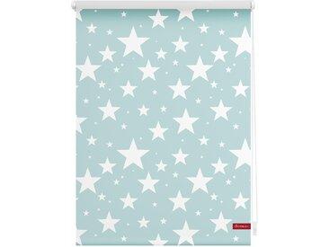 Lichtbick Seitenzugrollo »Klemmfix Motiv Sterne«, H/B 150/45 cm, blau