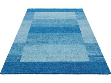 Theko Exklusiv Wollteppich »Gabbeh Super«, 70x140 cm, aufwendige Handarbeit, 9 mm Gesamthöhe, blau