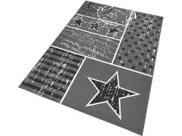 Hanse Home Teppich »Patchwork Stars«, 140x200 cm, 9 mm Gesamthöhe, grau